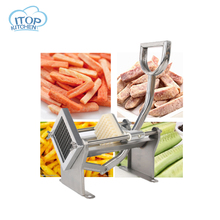 ITOP Manual Potato Slicer Vegetable Cutter French Fries Chips Chopper Kitchen Tool