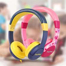 Kids Headphones EasySMX KM-666 Headset Headphones with 80-85dB Child Safe Volume Headset for Xiaomi iPhone iPad Smartphone(China)
