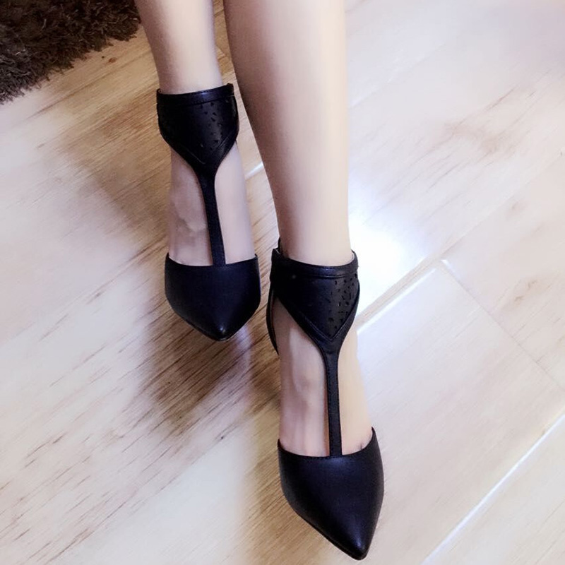 Breathable T Strap Commuter Rome Party Pointed Toe Cheap font b Women b font Office Single