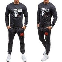 ZOGAA HOT SALE Men Tracksuit Set Solid Sweat Suit Track Suits Coat+Pants Outwear Sports Jacket and Pant