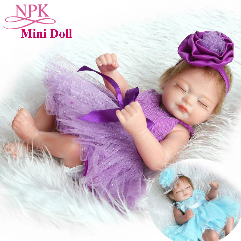 10inch NPK Full Silicone Baby Girl Dolls Adorable Lifelike Bebes Reborn Princess Dolls Mini Toys For Child Girls Birthday Gifts