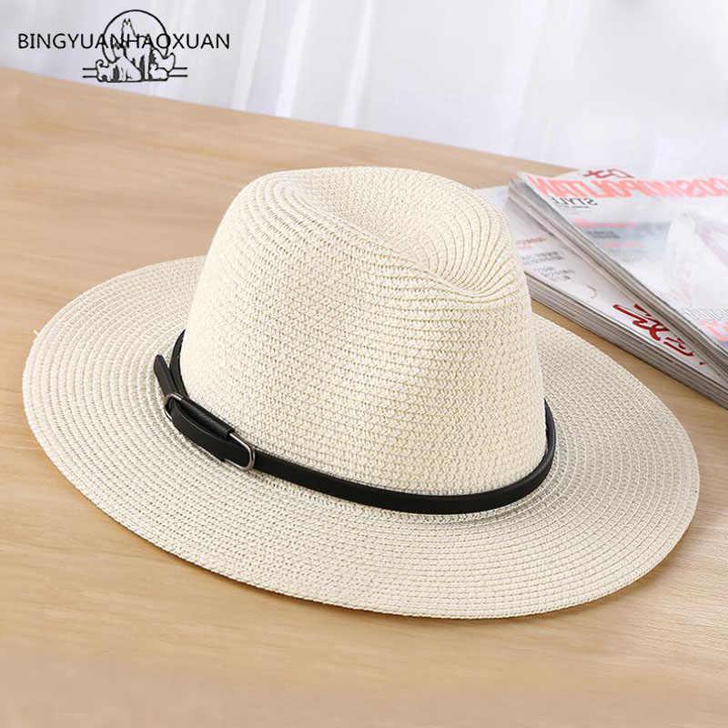 53b479c6dff4cf BINGYUANHAOXUAN Brand 2018 Ladies Sun Hat Fashion Casual Women Straw Summer  Beach Hat Wholesale Hats Stylish