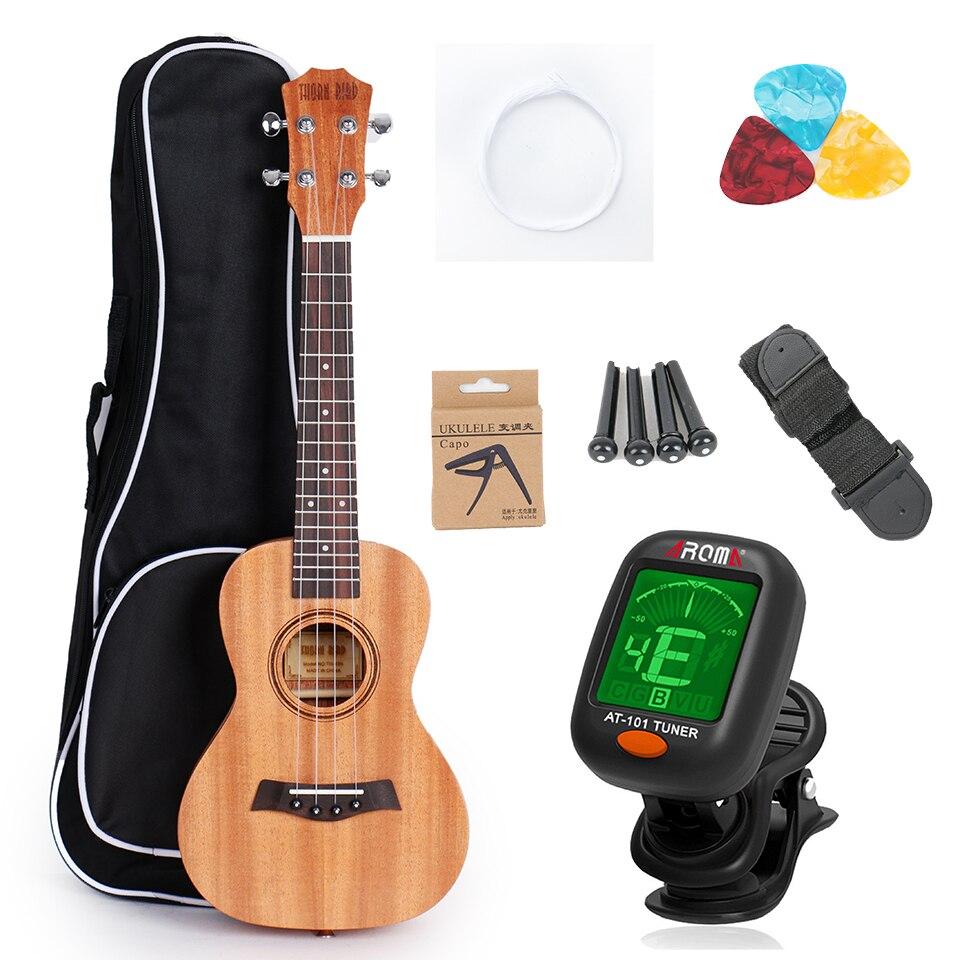 Guitar 23 Concert Ukulele Acoustic Ukulele 21 Soprano Ukelele Hawaii Solid Mahogany With Ukulele Bag Tuner