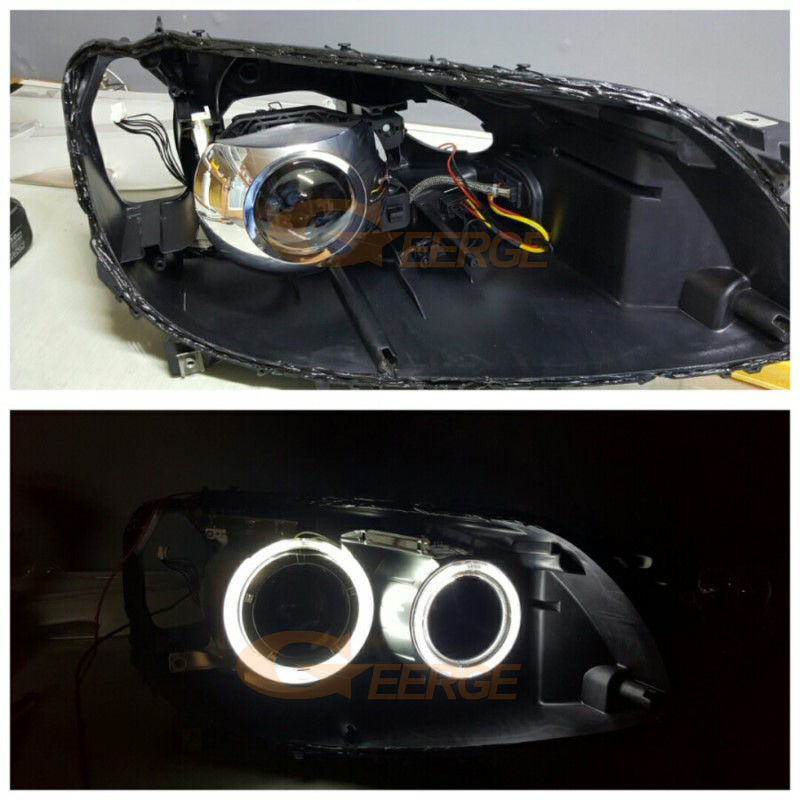 BMW F01 F02 F03 F04 750 760 BI-XENON HEADLIGHTS 2008-2012 ccfl angel eyes(19)