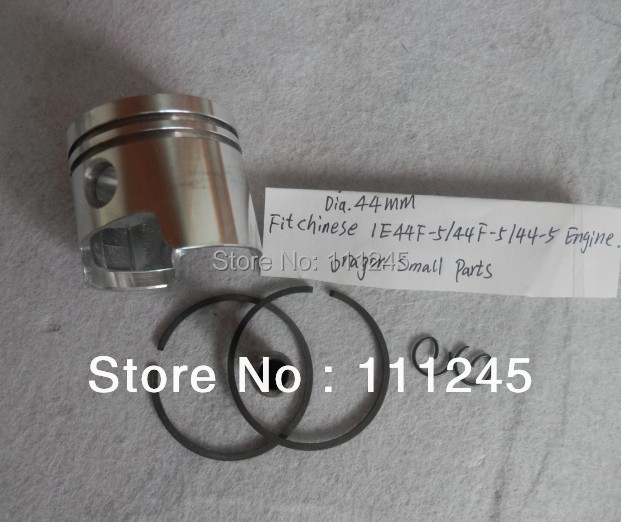 PISTON KIT  44MM  FOR 1E44F-5 44F-5 44-5 2-CYCLE FREE SHIPPING PISTON ASSY CHEAP GARDEN TOOLS REPLACEMENT PARTS 38mm cylinder barrel piston kit