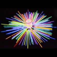 100 Pcs Multicolor Glow Sticks Colorful Light Stick Party Fluorescent Necklace Bracelet Concert Supplies Decor