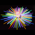 100 Pcs Multicolor Glow Sticks Luz Colorida Festa Vara Fluorescente Colar Pulseira Concerto Suprimentos Decor
