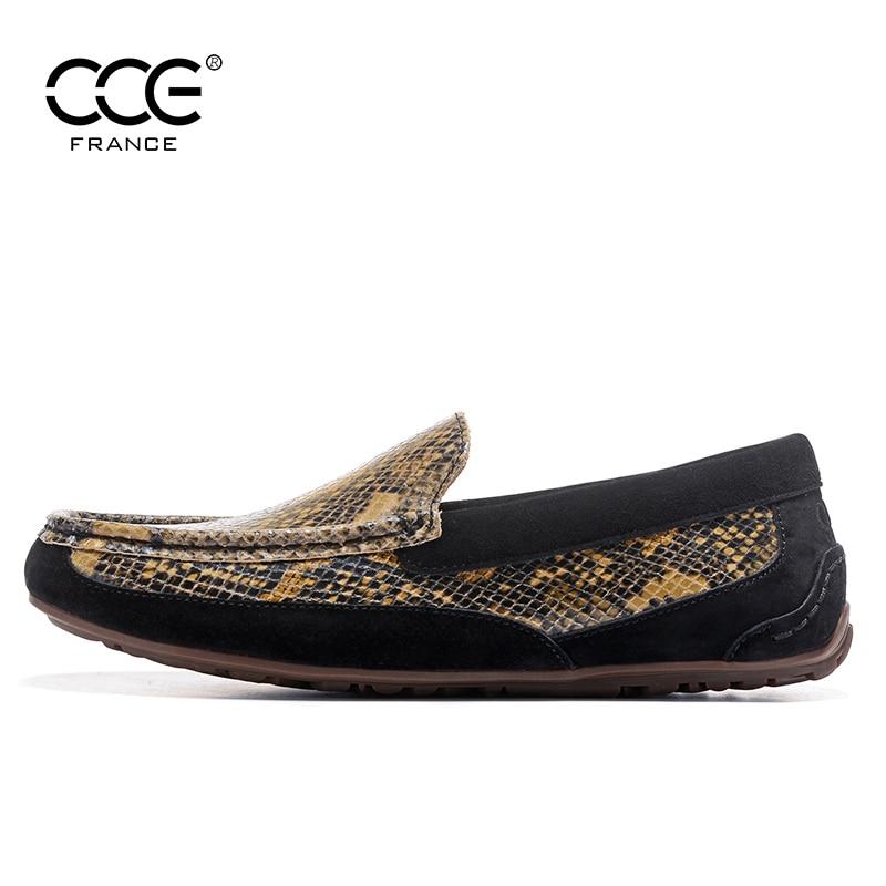 Nueva Mocasines Zapatos 2017 Serpentina Holgazanes Black Llegada 1768 Superior Calidad Hombres De La Manera Genuino Pisos Cuero Cce Serpiente 5gOwdx6O