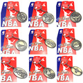 Free Shipping NBA Team Pure Copper Metal Figure Pendant Key Chain Badge Fans Collection Gift Warriors Lakers Cavaliers