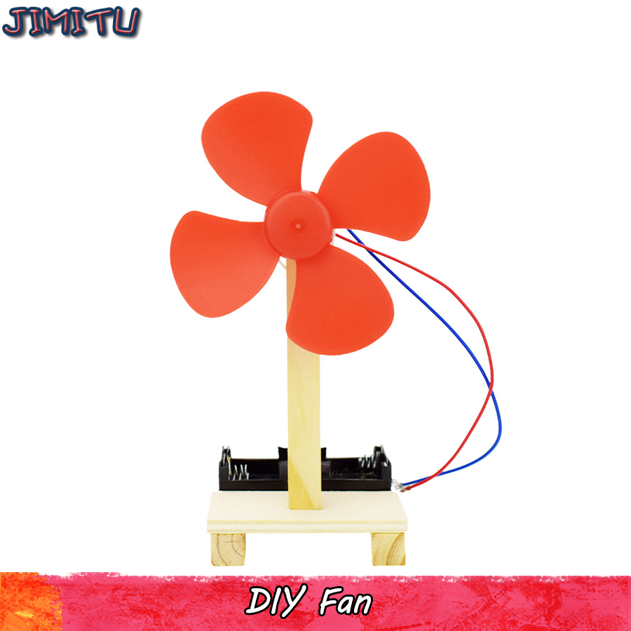 DIY Electric Fan Model Kits Science Toys For Children Physics Experiment Educational Handmade Assembly Study Toy Gift For Kids