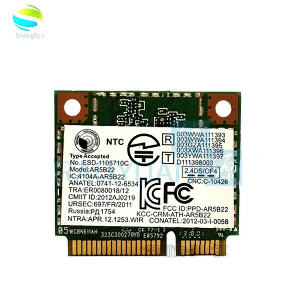 Wireless Network Card For Killer N1202 Atheros Wifi Wireless Bluetooth Card AR5B22 AR9462 For Lenovo Y400 Y500 Y410p Y510p