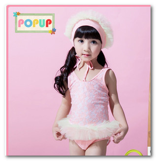 7c876bb518 Fashion children swimsuits girls cute ballet lace tutu skirt Siamese swimwear  lace Frilly swim hats kids spa beachwear 7073-in One-Piece Suits from  Sports ...