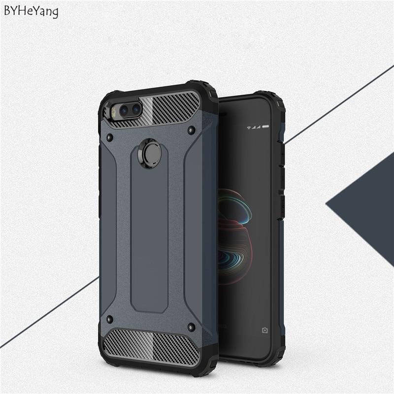"BYHeYangFor Xiaomi Mi A1 Case Mia1 Mi 5X Mi5x Cover Armor Hybrid Shockproof Hard PC TPU Luxury Phone Cases for Xiaomi mi A1 5.5"""