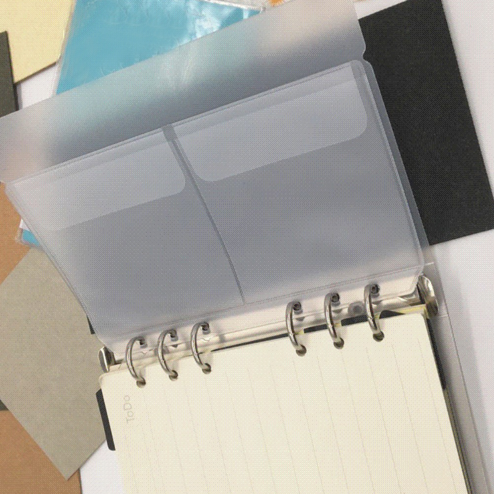 1Pc A5 Zip Lock PVC Loose-Leaf Storage Pouches Bag Document Postcard Template Organizer Clear Resealable Concise Collection