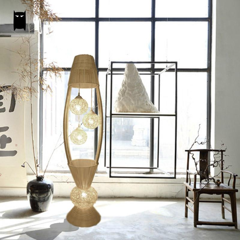 Design personnalisé En Osier Rotin Fleur Ombre Luminaire Lampe sur ...
