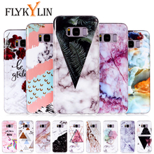 FLYKYLIN Marble Leaf Case For Samsung Galaxy S9 Plus Cases For Samsung S7 Edge S8 Coque Slim Soft TPU Silicone Cute Couple Cover