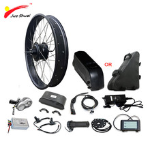 цена на 26 4.0 Fat Bike Electric Bike Conversion Kit with Lithium Battery 14/16ah 48V 20AH Fat Bike Rear Motor Wheel Electric Ebike Kit