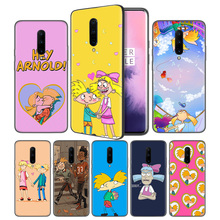 Hey Arnold Soft Black Silicone Case Cover for OnePlus 6 6T 7 Pro 5G Ultra-thin TPU Phone Back Protective