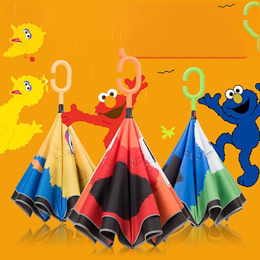 Enfants dessin animé parapluie Double couche parapluie Version coréenne inverse Mini poche parapluies Guarda Chuva maison vêtements de pluie QZP257