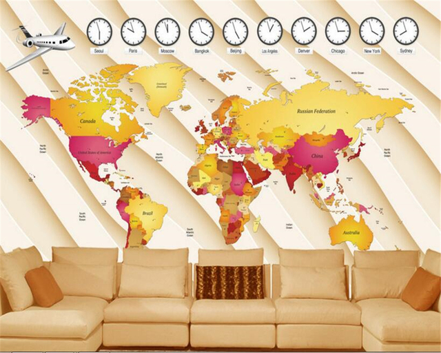 Beibehang fashion advanced decorative wallpaper 3d creative world beibehang fashion advanced decorative wallpaper 3d creative world map mural background wall papel de parede 3d gumiabroncs Images