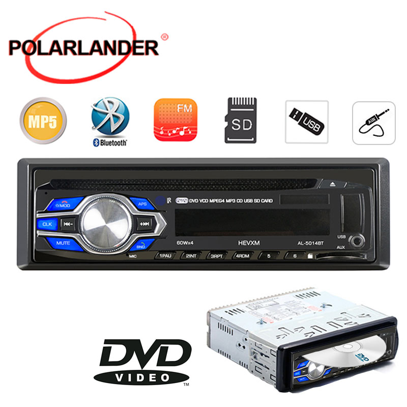 New bluetooth 1 DIN 12V Car Radio player MP3 Audio Stereo FM Built in Bluetooth Phone DVD/VCD/CD/USB/SD MMC port Car Electronics image