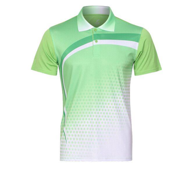 2018 Бадминтон рубашка человек, Fast Dry спорта теннис рубашки, настольный теннис, Бадминтон футболка, теннис одежда сухой-cool футболка s