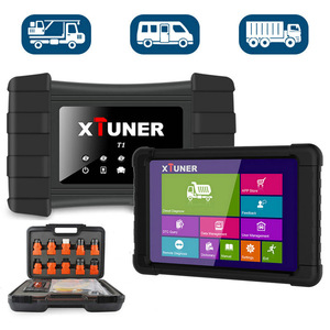 Image 2 - Xtuner t1 caminhão resistente diagnóstico scanner abs airbag dpf obd2 scanner para caminhões diesel obd ferramenta de verificação de diagnóstico + tablet
