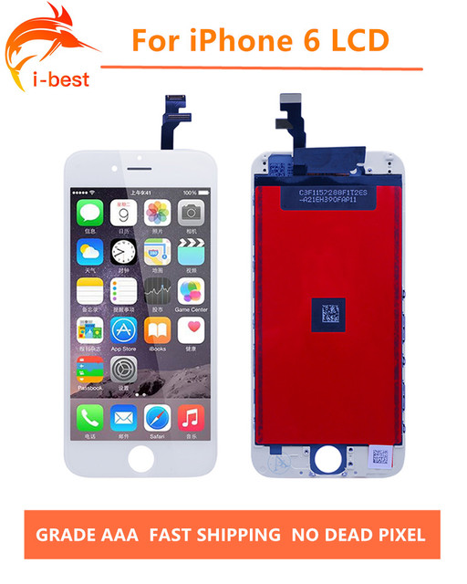10pcs/lot 100%No Dead Pixel LCD Display  LCD Touch Screen Digitizer Assembly Replacement LCDs for Iphone 6 4.7 Free DHL
