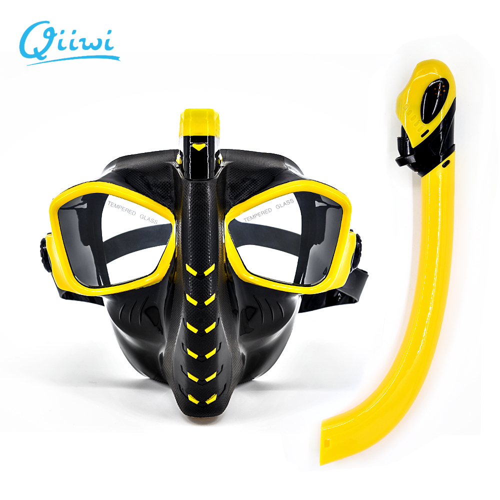 Snorkel Mask Anti-fog And Anti-leak Qiiwi Alien Full Face Design Snorkeling Diving Mask Technology Water Sports