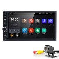 Hizpo 4 ядра 7 2Din Android 8,1 автомобиль NO DVD Радио мультимедийный плеер 600*1024 универсальный gps навигации авто стерео аудио