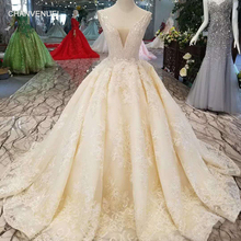 fb1a4716a0cc1 LSS1011 sexy sleeveless wedding dresses floor length appliques v-back shiny  beauty wedding gowns free