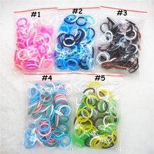 цены на Chenkai 100pcs BPA free Silicone Adapter O rings DIY Baby NUK MAM Pacifier Dummy Nursing Pendant Holder Chain Toy Accessories  в интернет-магазинах
