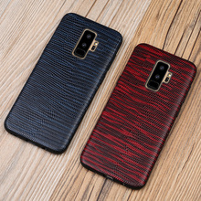 Full Grain Leather Case For Samsung Galaxy S10 Lite Plus S9 S8 S7 Edge Lizard Cover A7 A8 J7 Note 8 9 Phone Cases