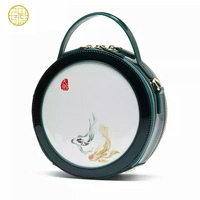 Pmsix Half Moon Messenger Bags Chinese Style Womens Luxury Handbags Women Bags Designer Cow Leather Small Round Handbags Tote