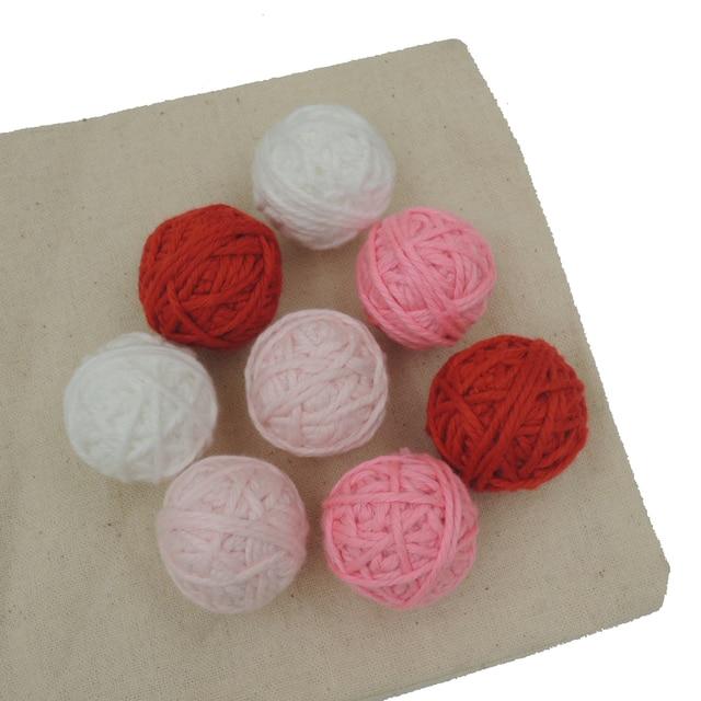 40 stücke rot rosa fuschia verblassen farbe häkeln voodoo ball perle ...