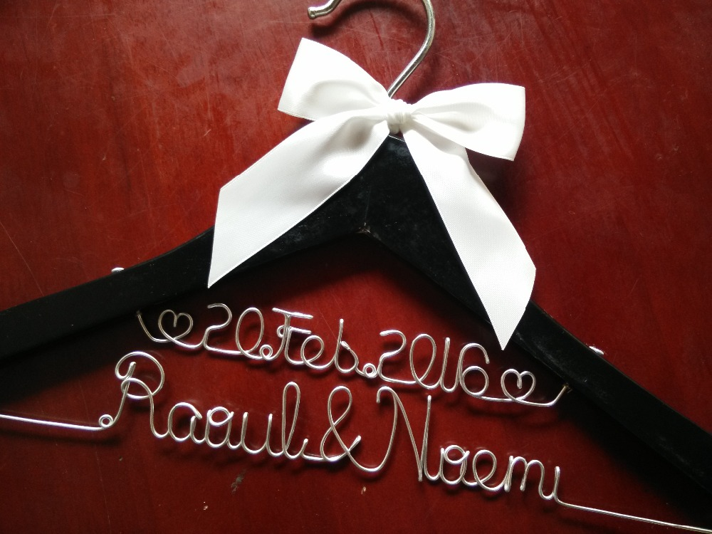 Bridesmaid Gift For Bridal Party Personalized Hangers Wedding