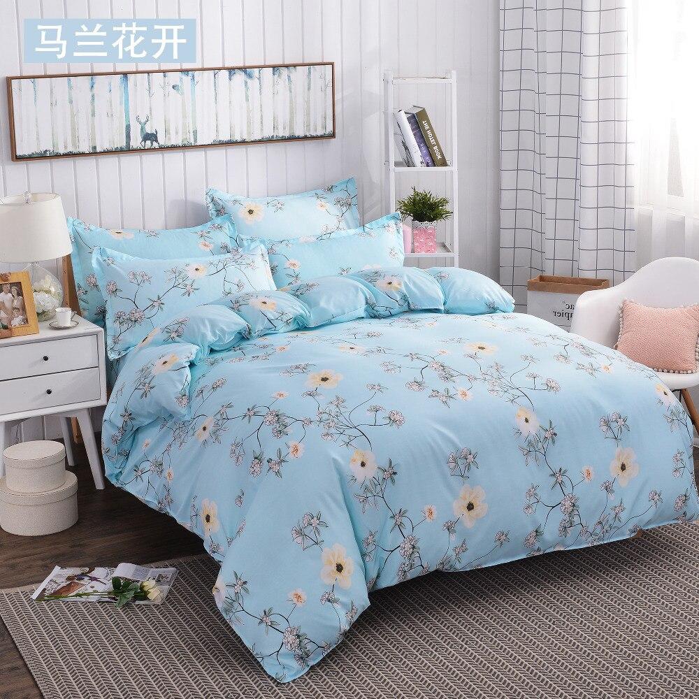 Refreshing series jacquard 4pcs Bedding sets Cotton bed sheet duvet cover pillowcases housse de couette dekbedovertre