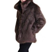 Men\s Faux Leather Luxury Jacket Parker Fur 2018 men Hair Overcoat Lady Coat Features