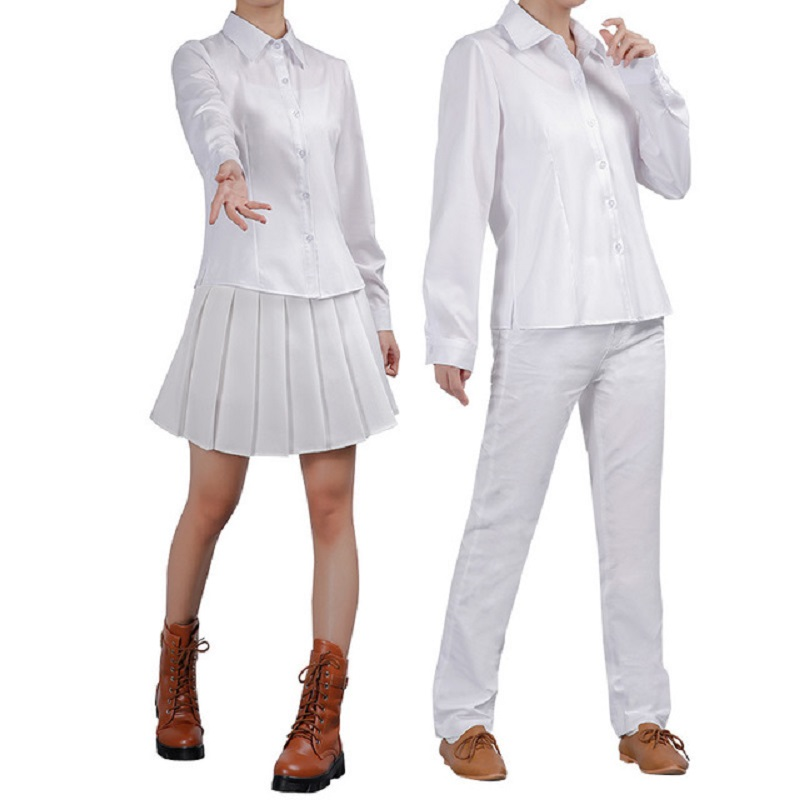 Anime The Promised Neverland Ray Norman Emma Cosplay Costume With Tattoos Yakusoku No Neverland School Uniforms Cosplay Costume