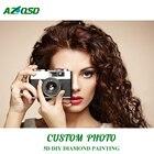 AZQSD Diamond Painting Photo Custom 5D DIY Full Square Picture of Rhinestones Diamond Mosaic Home Decoration Embroidery Gift