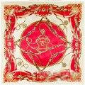 90*90 cm cadena de la correa nueva señoras bufanda cuadrada grande de la toalla