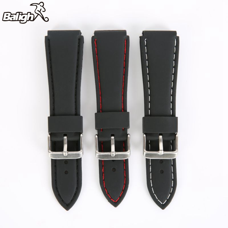 /est / / Silicone  Watch Band Men Women Wristwatch Strap  18,20,22, 24mm Wrist Bracelet  Watches Accessories