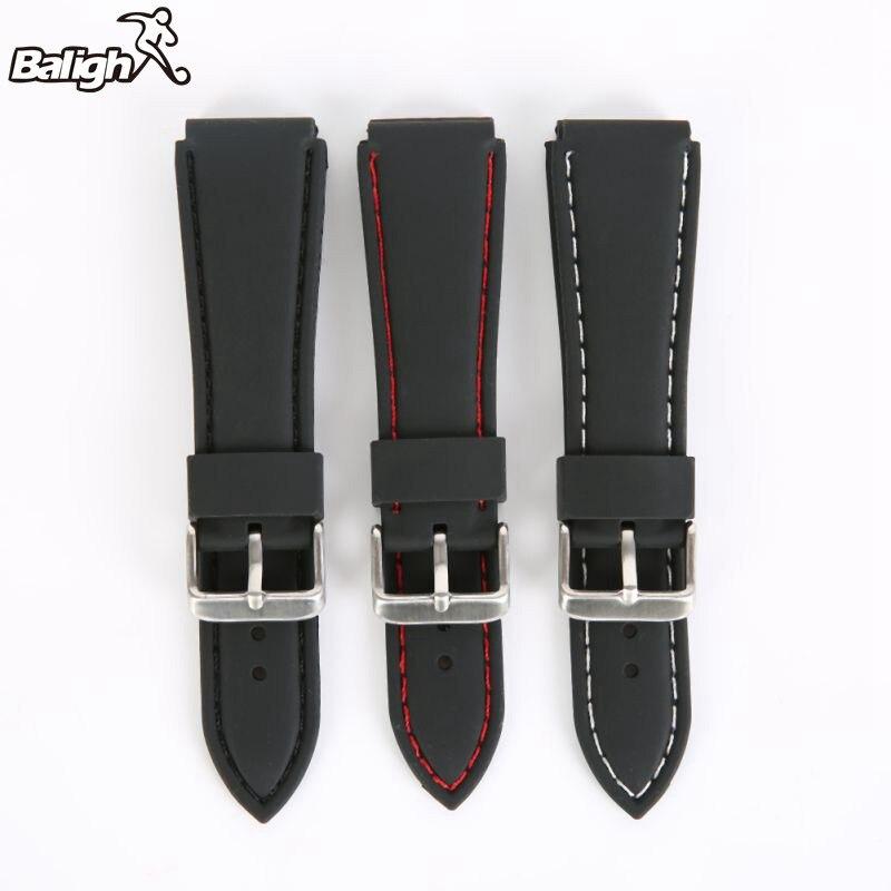 /est / / Silicone Watch Band Men Women Wristwatch Strap 18,20,22, 24mm Wrist Bracelet Watches Accessories