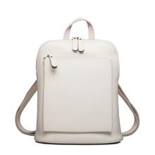 ZENCY Luxury Brand Summer Real Oil Wax Cowhide Backpacks Women Girl Female Genuine Leather Backpack Real