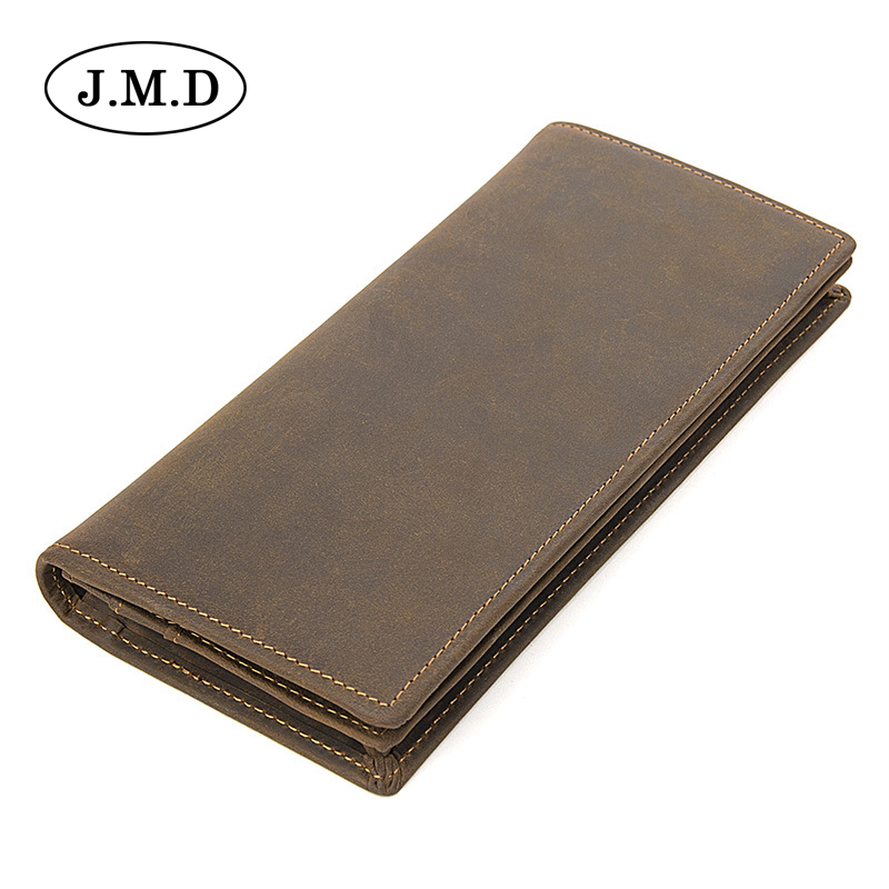 J.M.D New fashion men wallet genuine leather purse and handbags for male luxury brand men clutches bag long wallets R-8167R  new fashion men wallet pu leather purse handbags for male luxury brand black no zipper men clutches free shipping card holder