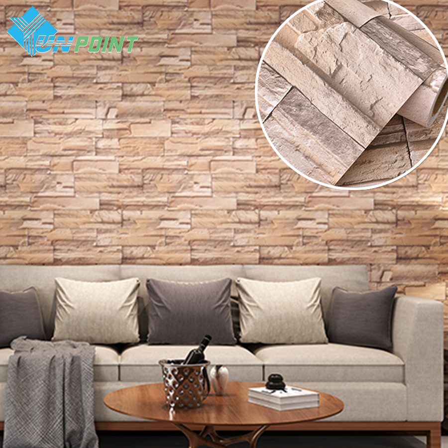 Online buy wholesale white bricks from china white bricks for Waterproof wallpaper for walls
