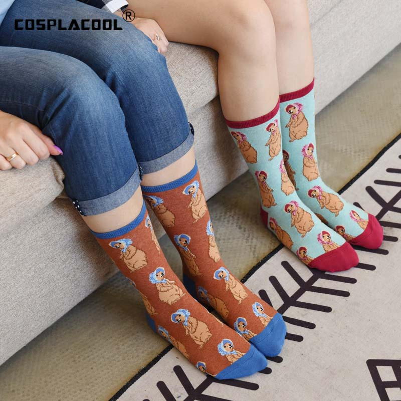 [COSPLACOOL]Animals Cool Funny Socks Mermaid Pug Cotton Crew Cute Socks Women Happy Rabbit Novelty Socks Female Calcetines Mujer