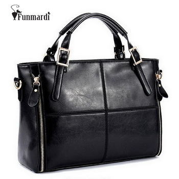 FUNMARDI Luxury Handbags Women Bags Designer Split Leather Bags Women Handbag Brand Top-handle Bags Female Shoulder Bags WLHB974 1