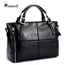 FUNMARDI Luxury Handbags Women Bags Designer Split Leather Bags Women Handbag Brand Top handle Bags Female