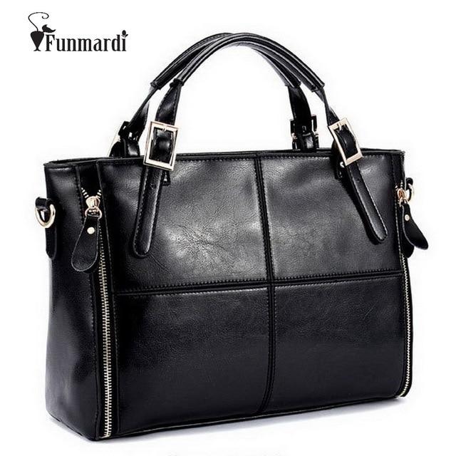 FUNMARDI Luxuryกระเป๋าถือผู้หญิงกระเป๋าออกแบบกระเป๋าหนังแยกผู้หญิงกระเป๋าถือTop Handleกระเป๋าไหล่หญิงกระเป๋าWLHB974